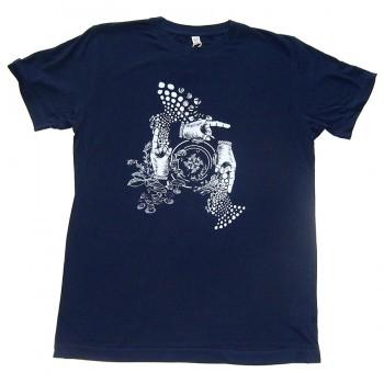 Amorphik Hands Navy T-Shirt