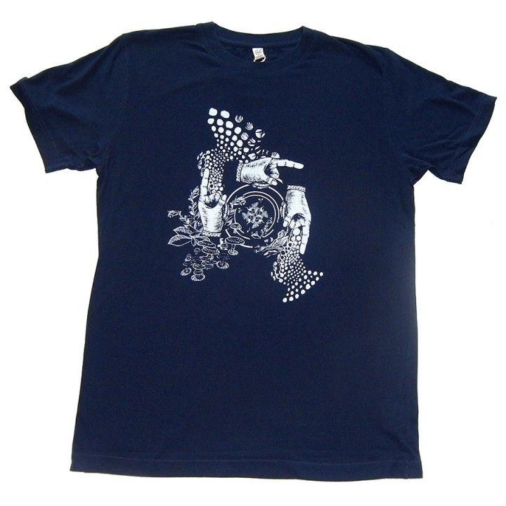 Amorphik Hands Navy T-Shirt