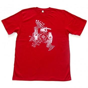 Amorphik Hands Red T-Shirt