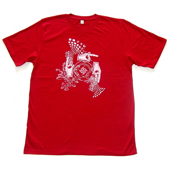 Amorphik Hands Red T-Shirt