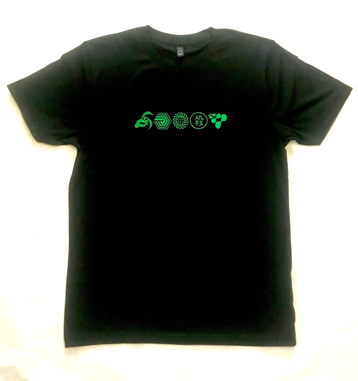 886470b4e22 FSOL Symbols Black T-Shirt - FSOLdigital